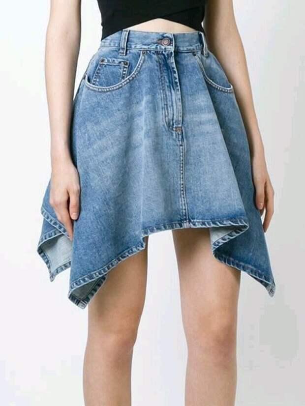 идеи переделок джинсовых юбок