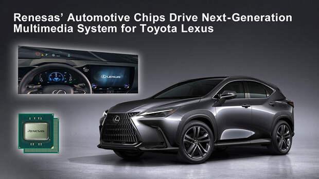 В мультимедийной системе автомобиля Lexus NX используются однокристальные системы Renesas R-Car H3 и R-Car M3