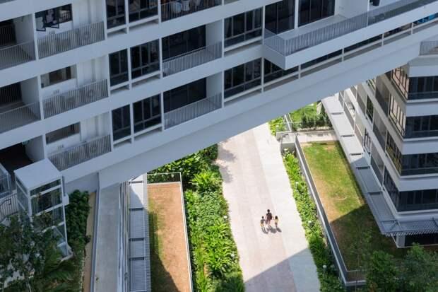 Современный жилой комплекс в Сингапуре