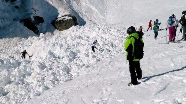 Двое лыжников погибли при сходе лавины в Швейцарии