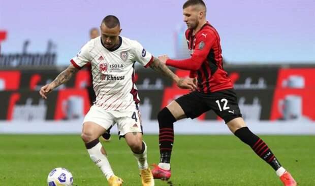 «Милан» сыграл вничью в матче с «Кальяри»