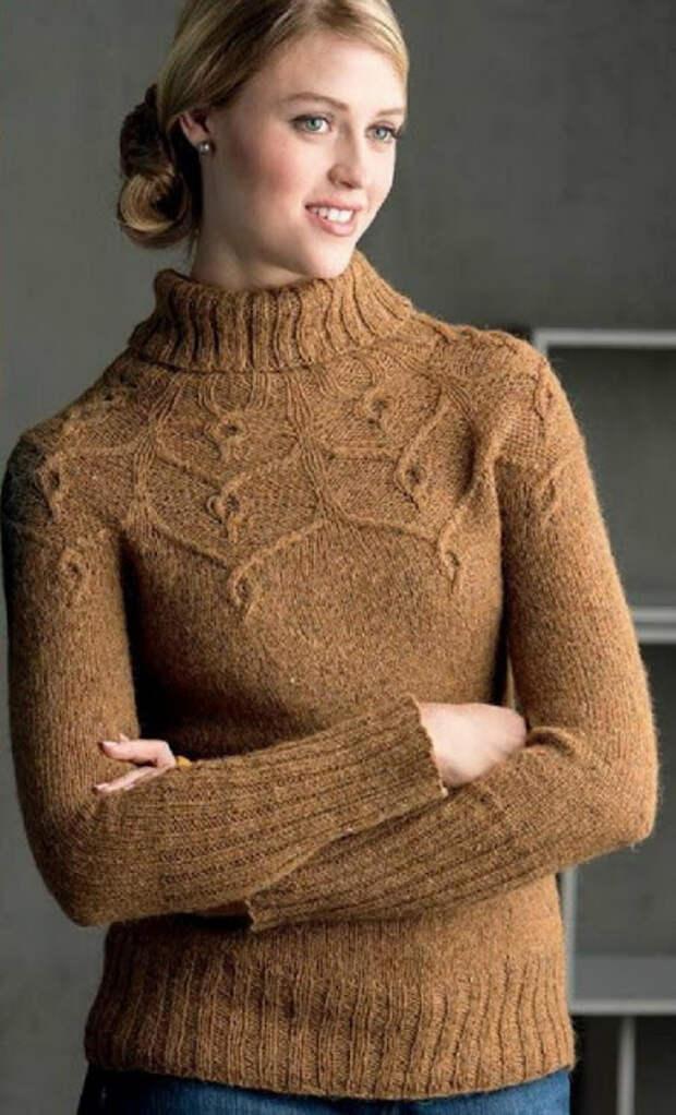 Эффектные узоры для свитеров и пуловеров