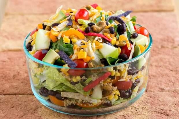 Салат Мексика. Когда я попробовала этот салат в первый раз, то он сразу стал моим любимым 2