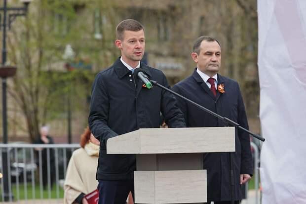 Председатель Мособлдумы высоко оценил вклад жителей Балашихи в Победу