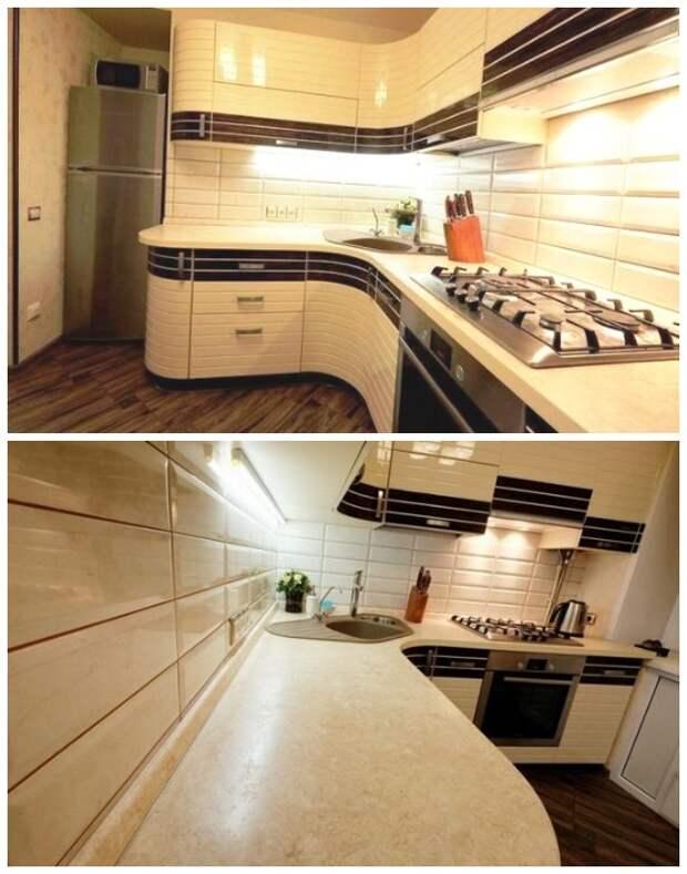 Обновленная кухня выглядит просто безупречно.