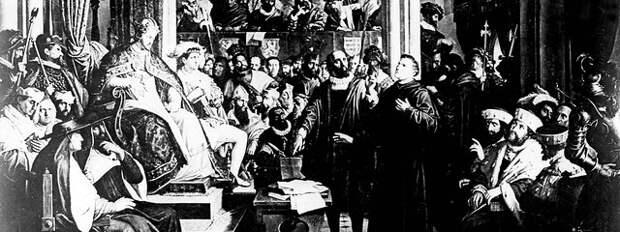 Мартин Лютер перед Вормсским рейхстагом. 1521 г.