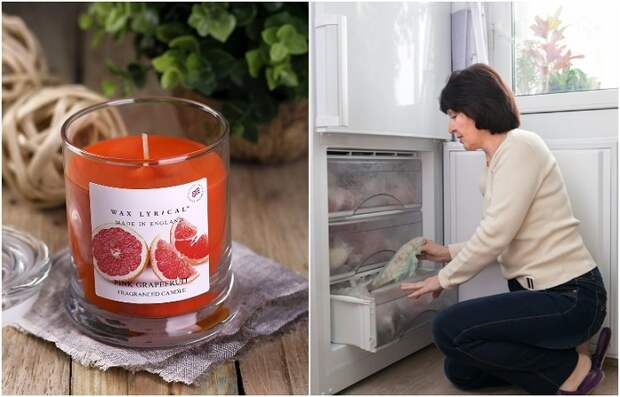 После заморозки ароматические свечи медленнее горят