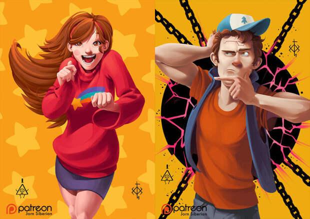 Повзрослели: 12 картинок от фанатов, которые представили, как выросли герои мультсериалов
