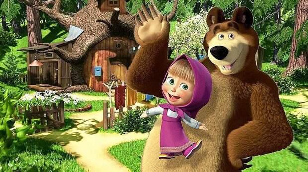 Сериал «Маша и Медведь» стал лидером в мировом рейтинге детского мультимедийного контента