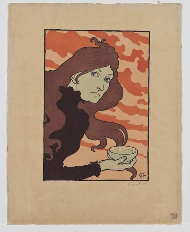 Eugene Grasset, La vitrioleuse (The Acid Thrower), 1894