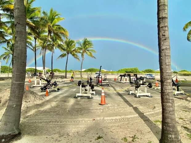Тренажеры из Карелии установили на пляже в Майами