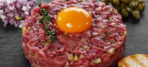 Тартар (осторожно,сырое мясо) Тартар, Французская кухня, Мясо, Рецепт, Длиннопост