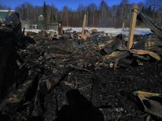 Из-за аварийного режима работы электросетей в Невьянском районе сгорел дом