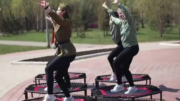 Омский фитнес-центр оказался в центре скандала из-за танца на батутах к 9 Мая