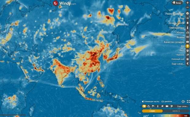 Сайт погоды и загрязнений