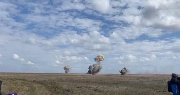 На крымском полигоне Опук прошли масштабные военные учения. ВИДЕО