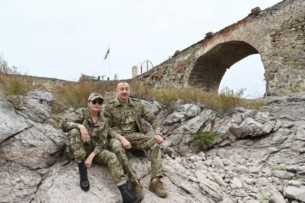 Алиев в Карабахе