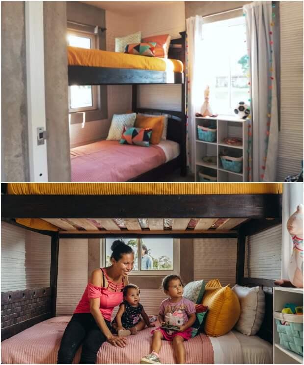 Детская спальня уже полностью готова принимать самых маленьких новоселов.   Фото: newatlas.com/ youtube.com. © New Story.
