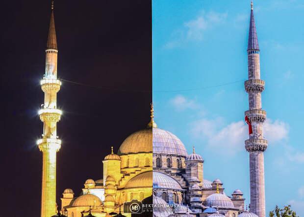 Очарование дня и ночи: коллажи знаменитых видов Стамбула