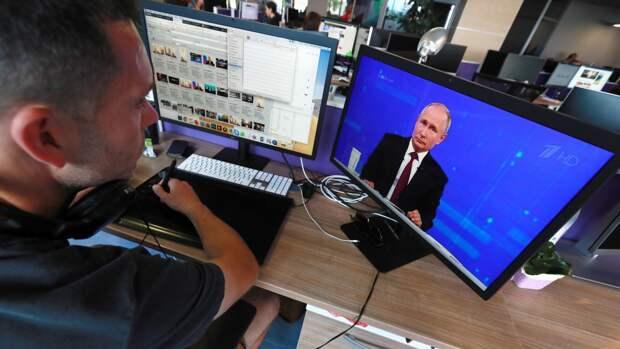 """Журналисты """"Ведомостей"""" назвали примерные сроки прямой линии Путина"""