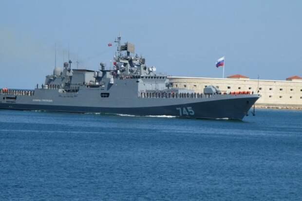 """Выход в море фрегата """"Адмирал Григорович"""" показали на видео"""