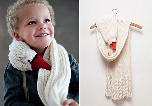 Шарф-гусь вязание, новый год, подарки
