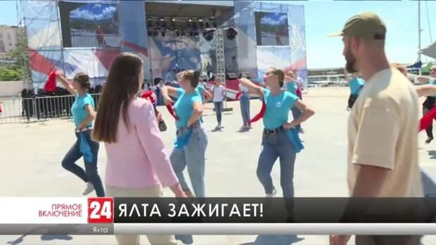 В Ялте стартовал флешмоб «Русь танцевальная»