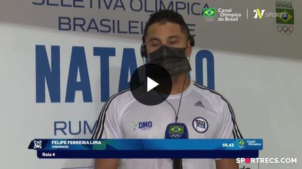 Felipe Lima fala sobre a classificação e recebe o Passaporte Olímpico (19/04/2021)