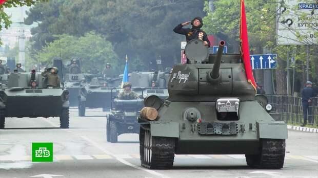 Военные парады в честь Дня Победы прошли в 27 городах России