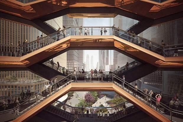 Лестницы Хадсон Ярдс: новая туристическая достопримечательность Нью-Йорка
