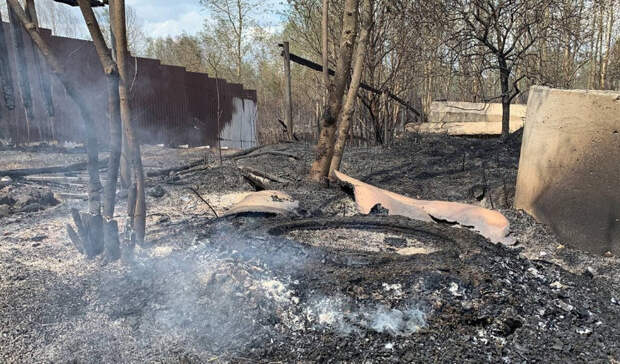 Что осталось после пожара втюменском СНТ «Солнышко». Фоторепортаж