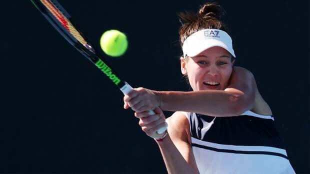 Кудерметова вышла в четвертьфинал турнира в Чарльстоне