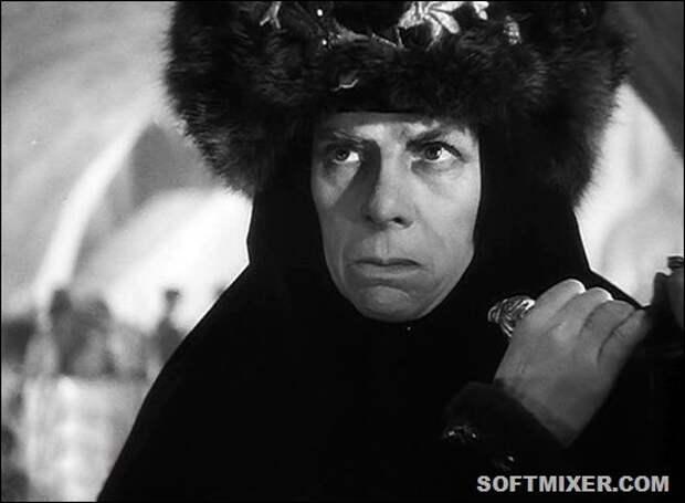 Ефросинья Старицкая. Иван Грозный, 1945, Серафима Бирман. СССР, злодейка, кино