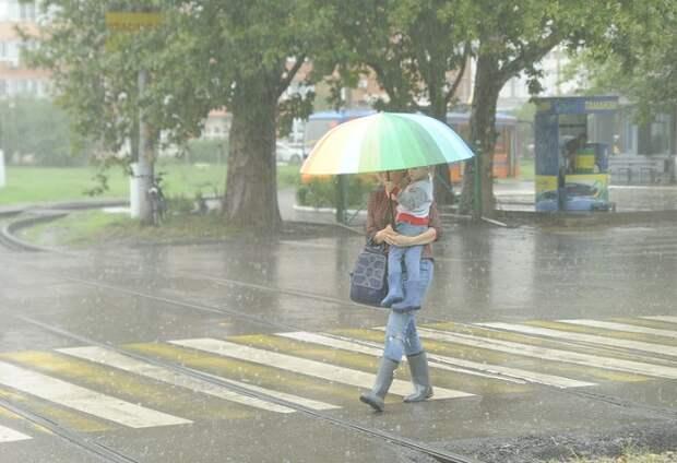 На Кубани продолжатся дожди и грозы
