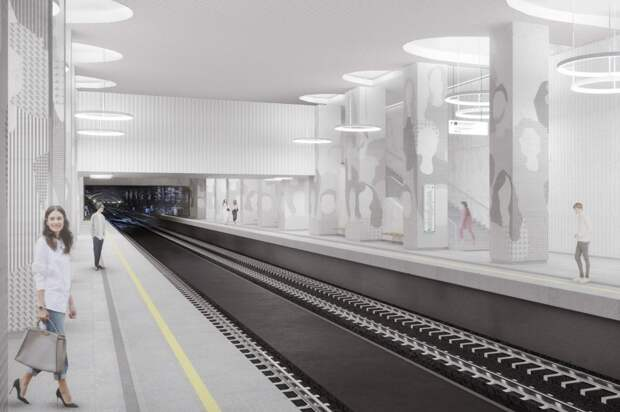 Уникальный бетон будет использован при оформлении станции БКЛ «Терехово»