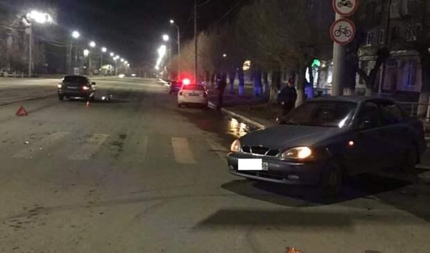В центре Орска в ночном ДТП чуть не погибли люди