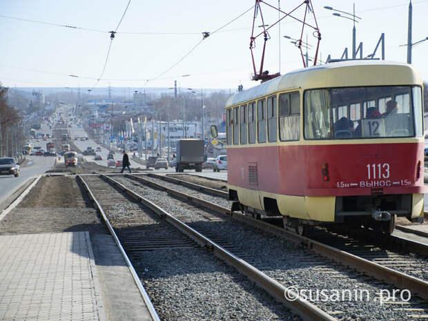 Движение трамваев в Ижевске нарушено из-за проблем с высоковольтным кабелем