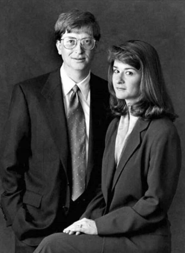 Билл и Мелинда Гейтс в молодости. / Фото: www.yandex.net