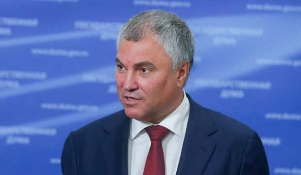 Володин: Дума рассмотрит законопроекты по защите России от внешнего вмешательства