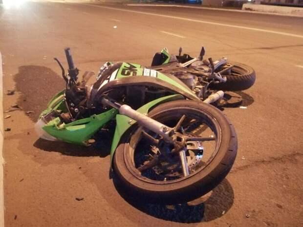 Двое читинцев попали под колёса мотоцикла