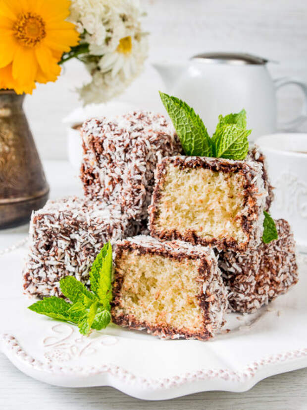 Лемингтон – австралийский бисквитный десерт