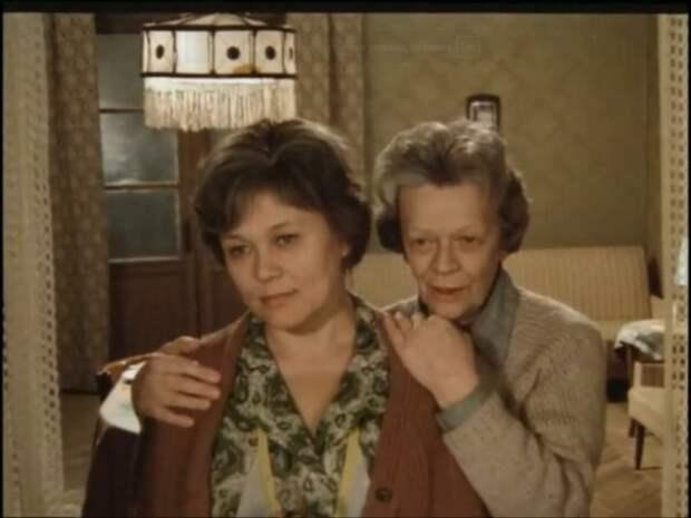 """С Люсьеной Овчинниковой в фильме """"Колыбельная для мужчин"""", 1976 год"""