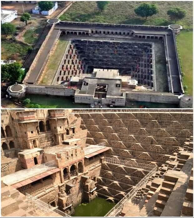Некоторые сохранившиеся колодцы поражают своим масштабом и красотой не меньше, чем дворцы магараджей (Индия).