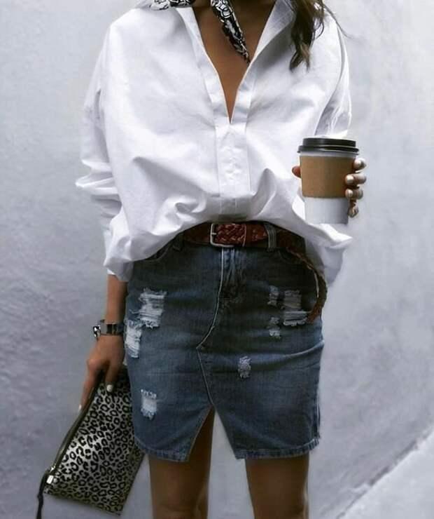 Стильно и элегантно! Несколько отличных образов с белой блузкой на каждый день