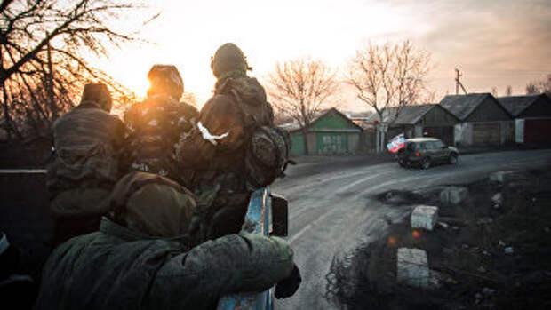 Ополченцы ДНР в Донецкой области