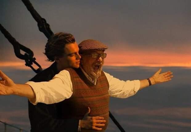Сын, при помощи фотошопа, «помещает» отца в самые необычные места