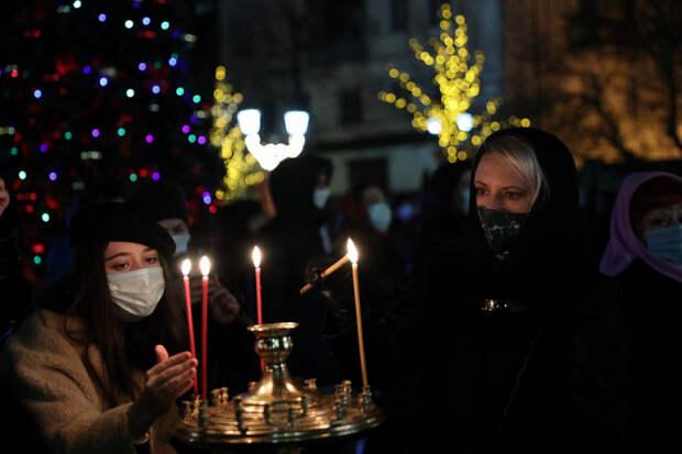 Рождественские богослужения прошли в православных храмах Кубани