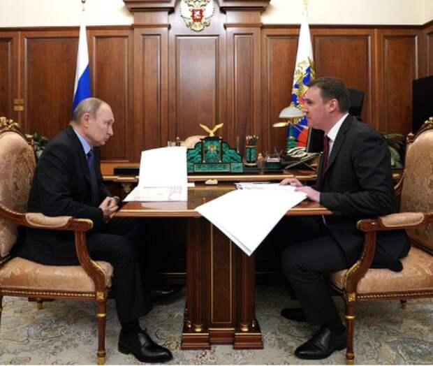 Дмитрий Патрушев на встрече с Владимиром Путиным