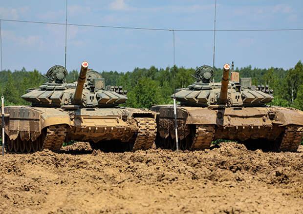 В Подмосковье с танкистами ЗВО проведена тренировка в условиях полного бездорожья