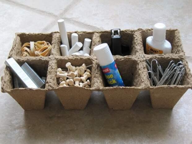 2. Коробочки из-под яиц подходят для хранения вещей вторая жизнь старых вещей, интересно, контейнер из-под яиц, своими руками, сделай сам, фото